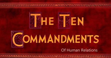 Ten Commandments Of Human Relations